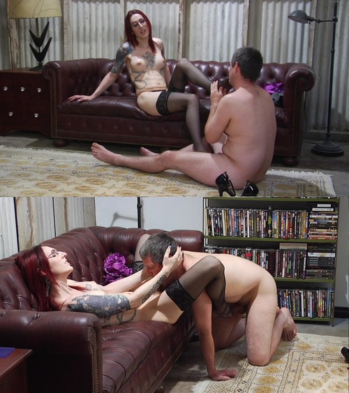 Brittany St. Jordan - SEXY REDHEAD TS ENJOYS FOOT WORSHIP AND PLAY AND HER MAN SUCKS HER COCK [HD 720p] (SevereSexFilms)