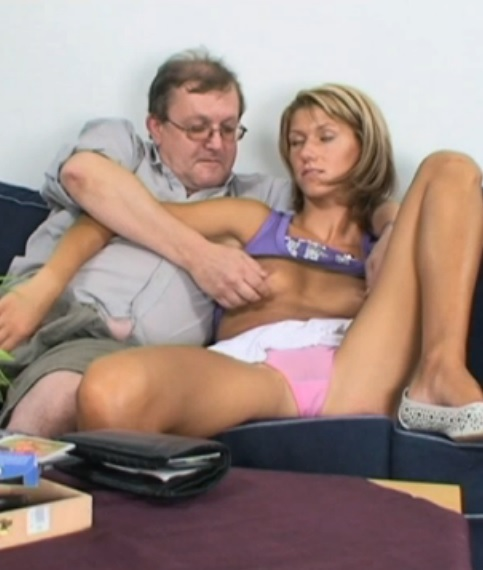 Busty Old Couple Paid This Dirty Slut For Sex
