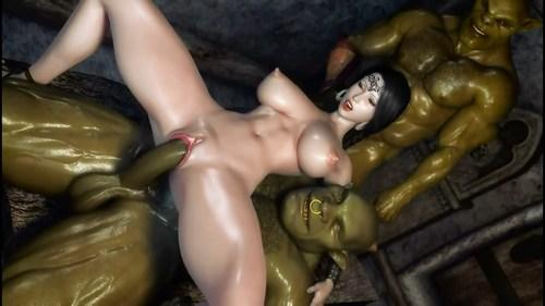мульт порно двойное проникновение с монстрами