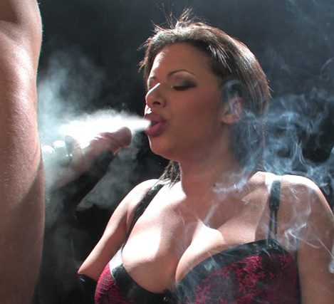 Alexis Silver Smoking during sex
