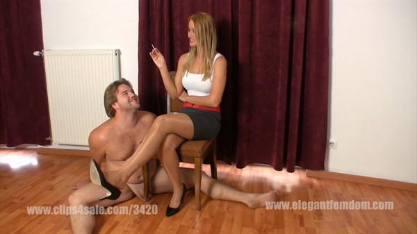 Woman domination a man